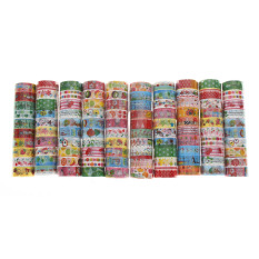 Bulk10pcs/1.5cmx3 Meter Paper Sticky Adhesive Sticker Decorative Washi Tape By Welcomehome.
