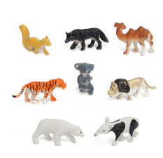 Buytra 68 Pcs/set Simulation Zoo Models Tiger Dinosaur Toys for Children of Military