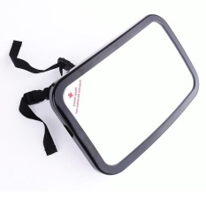 Discounted Car Back Seat Shatterproof Baby Safety Mirror 360° Adjustable Rear View Baby Backseat Mirror Black Color Black Intl