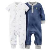 Sale Carter S 2 Pack Jumpsuits Blue Carter S On Singapore