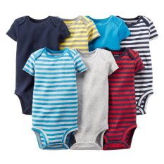 Sale Carter S 7 Pack Short Sleeve Bodysuits 6 Months Carter S Cheap