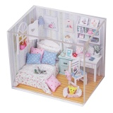Compare Catree Kits Diy Wood Dollhouse Bed Miniature With Led Furniture Cover Room Gift Intl