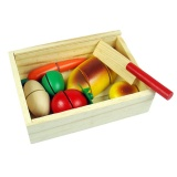 Compare Cenita Kitchen Vegetable Food Cutting Toy Pretend Development Wooden Preschool Intl