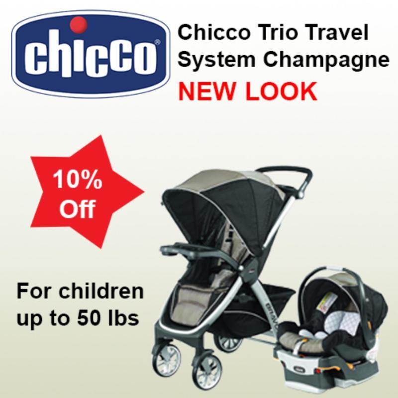 Chicco Bravo Trio Travel System-Champagne Singapore