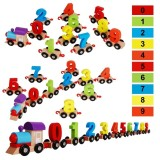 Price Children Building Blocks Wooden Digital Train Puzzle Assembled Colorful Small Train Early Educational Toys Gift For Kid Intl Oem