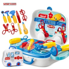 Brand New Children Doctor Nurse Medical Equipment Pretend Play Set Educational Toy Kids Role Games Tools Accessories Portable Suitcase Intl