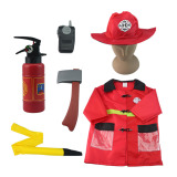 Price Children Fireman Costumes For Halloween Party Kids Cosplay Fireprotection People Cos Clothing Suit For Boys 3 7 Years Old Online China
