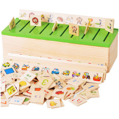 Discount Children Kids Early Learning Educational Toys Wooden Cartoon Knowledge Classification Box Training Toy For Over 3 Years Old Kids Hong Kong Sar China