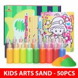 Buy Children Kids Sand Art Boys 50 Pcs And 24 Tubes Sand On Singapore