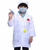 Best Children Lab Coat Kids Doctor Role Play Halloween Costumes Dress Up Set S Intl