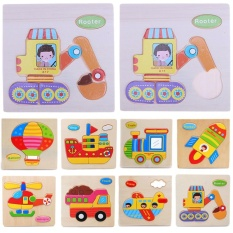 Children Wooden Toy Cartoon Animals 3d Puzzle Educational Intellectual Toys - Intl By Welcomehome.