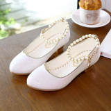 Discount Children S Small High Heeled Girls Leather Shoes Princess Glass Slipper Other