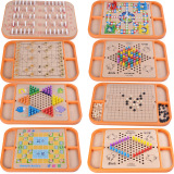 Cheap Twenty Three One Early Childhood Board Game Educational Chess Wooden Toys