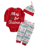 Christmas Newborn Baby Boys Girls Outfits Clothes Romper Pants Leggings 3Pcs Set Intl Coupon Code