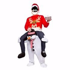 Sales Price Christmas Snowman Dwarf Carry Me Piggy Back Ride On Mascot Dress Party Costume Snowman Intl
