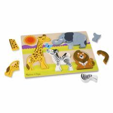 Retail Price Melissa Doug Chunky Wooden Jigsaw Puzzle Safari