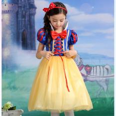 Low Cost Ciao Cartoon Snow White Princess Costume Children Gift Cosplay Cloth L