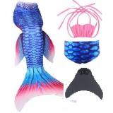 Deals For Ciao Children Mermaid Swimming Suit With Fin Pretend Play Roleplay Costume Gift 140