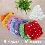 Cloth Diaper Baby Nappies Diapers Cover Reusable Washable Cotton Diaper Free Size Adjustable Fralda Winter Summer Three Version Intl Review