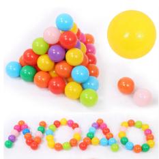 Colorful Ball Plastic Fun Ball Ocean Ball Baby Kid Toy Swim Toy Set Of 50 - Intl By Globedealwin.