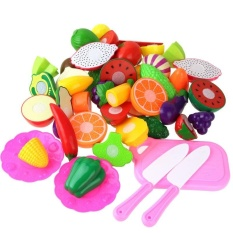 f5bf8b4db7a Coolplay 23Pcs Set Plastic Kitchen Pretend Play Food Fruit Vegetable  Cutting Toy For kid Educational