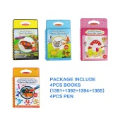 Price Compare Coolplay 4Pcs Set Coloring Book Kids Animals Painting Magic Water Drawing Book Water Coloring Book Water Drawing Book Doodle Intl