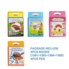 Sale Coolplay 4Pcs Set Coloring Book Kids Animals Painting Magic Water Drawing Book Water Coloring Book Water Drawing Book Doodle Intl Coolplay Wholesaler