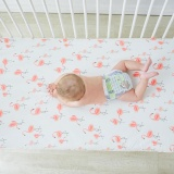 Best Rated Cotton Baby Crib Sheets Flamingo Printing Soft Breathable Infant Baby Bed Mattress Cover Intl