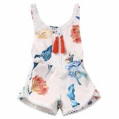 1f4c00785bd Cotton Newborn Baby Girl Romper Jumpsuit Floral Summer Sunsuit Clothes  Outfits - intl