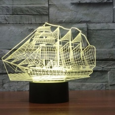 Sale Creative 3D Sailing Ship Shape 7 Color Led Night Light Touch Switchusb Table Desk Lamp Decor Intl China