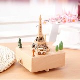 Creative Eiffel Tower Music Box Gift Wooden Clockwork Music Box Home Decoration Wedding Present Birthday Gift For Kid Intl Lower Price