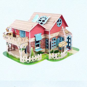 Buy Diy Villa House Assembled Model Puzzle Cubicfun