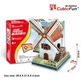 3D Jigsaw Solar Electronic Windmill Shopping