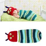 Lowest Price Cute Caterpillar Newborn Baby Boy G*rl Photography Suit Infant Knit Outfit