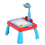 Best Reviews Of Cute Child Drawing Practice Study Table Kids Learning Desk With Ufo Appearance Projector Intl
