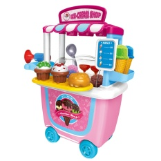 How Do I Get Cute Colorful Kids Simulation Barbecue Ice Cream Shop Dresser Cart Pretend Toy Set Playset Role Play Toy Kit Ice Cream Cart Style Intl