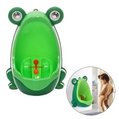 Cute Frog Children Toilet Potty Toilet Training Urinal For Boys Kids Toddler Pee Trainer Bathroom With Funny Aiming Target - Green By Treeone.