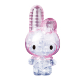 Cute Lovely Melody Rabbit 3D Crystal Puzzle Jigsaw Diy Model Blocks Clear White 38 Pieces Intl Review