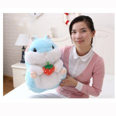 Best Price Mimosifolia Cute Thing Fat Hamster Lovely Japanese Totoro Doll Plush Toys Birthday Present Foodie Plush Stuffed Animal Blue And Strawberry 40Cm Intl
