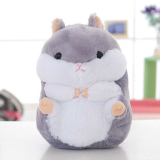 Mimosifolia Cute Thing Fat Hamster Lovely Japanese Totoro Doll Plush Toys Birthday Present Foodie Plush Stuffed Animal Gray 40Cm Intl Discount Code