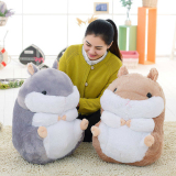 Mimosifolia Cute Thing Fat Hamster Lovely Japanese Totoro Doll Plush Toys Birthday Present Foodie Plush Stuffed Animal Gray 56Cm Intl Sale