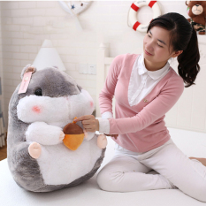 Top Rated Mimosifolia Cute Thing Fat Hamster Lovely Japanese Totoro Doll Plush Toys Birthday Present Foodie Plush Stuffed Animal Gray And Pine Nuts 56Cm Intl