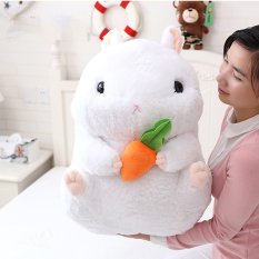 Get Cheap Mimosifolia Cute Thing Fat Hamster Lovely Japanese Totoro Doll Plush Toys Birthday Present Foodie Plush Stuffed Animal White And Carrot 56Cm Intl