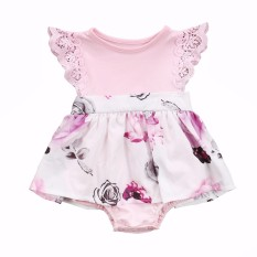 Mother & Kids 2018 Sister Sweet Purple Lace Floral Newborn Baby Girls Kids Tutu Romper Sundress Outfits Good Taste