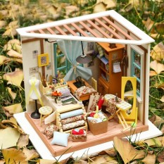 Cheapest Diy 3D Doll House Construction Toy Sets Manual Building Blocks Youth Puzzle Toy Christmas Gift Color Lisa Tailor Shop Tools