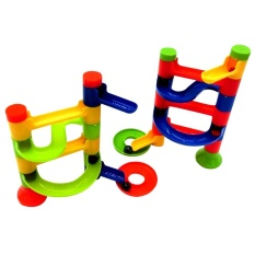 Diy Building Blocks Education Track Game Tower Orbit Ball Toy (multicolor) - Intl By Crystalawaking.