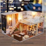 Who Sells Diy Doll House Toy Wooden Miniature Furniture Led Light Gift Waiting Time Kids Intl The Cheapest