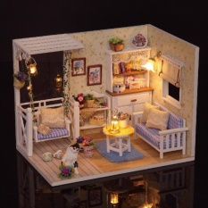 Doll House Furniture Diy Miniature Dust Cover 3D Wooden Miniaturas Dollhouse Toys For Children Birthday Gifts Kitten Diary Intl China