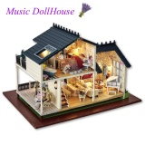 Price Comparisons For Doll House Miniature Diy Kit Dolls Toy House With Furniture Led Light Box Gift Intl