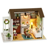 Buy Doll Mini House Wooden Studio Kit With Led Light Furniture Diy Handcraft Toy White Intl Not Specified Original